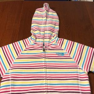 [NWOT] NORTH FACE WHITE AND RAINBOW HOODIE